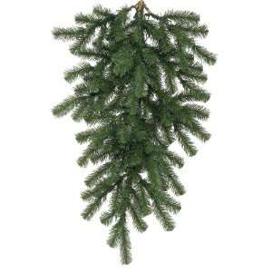 32 in. PVC Christmas Teardrop   Green   Douglas Fir   76