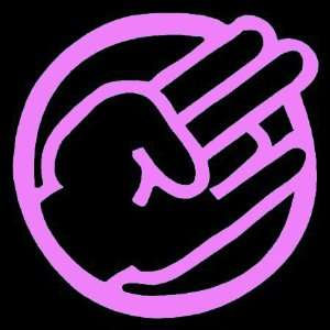 SHOCKER CIRCLE CUSTOM   Vinyl Decal Sticker 5 PINK