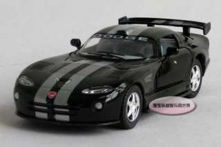 New Dodge Viper GTS R 136 Alloy Diecast Model Car Black B368