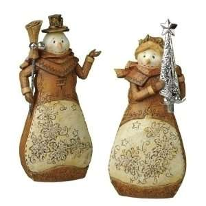 Natures Noel Rustic Country Snowman Christmas Figures