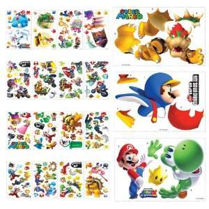 Super Mario Bros Giant Peel And Stick Wall Decal Collector