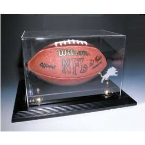 Detroit Lions NFL Zenith Football Display Case (Cherry