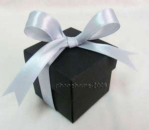 100 Black 2 pcs Favor Gift Boxes Wedding Baby Shower Party Box WB27