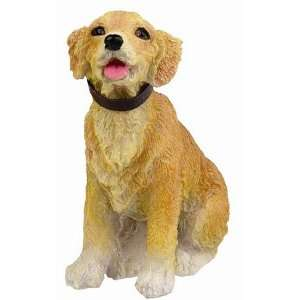 Golden Retriever Sitting 3 Dog Figurine