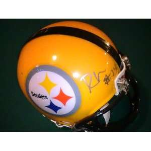 RESHARD MENDENHALL SIGNED AUTOGRAPHED MINI HELMET PITTSBURGH STEELERS