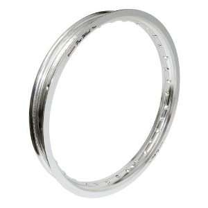 Pro Wheel Rear Motorcycle Rim   19x1.85   Silver, Position