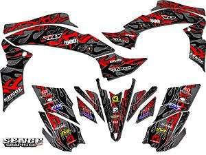 RAPTOR700 YAMAHA GRAPHICS KIT DECO STICKERS ATV QUAD 4 WHEELER FOUR