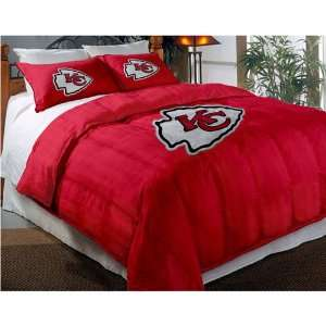 Kansas City Chiefs NFL Embroidered Comforter Twin/Full (64 x 86