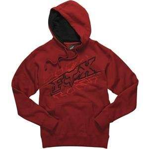 Fox Racing Reflection Hoody   Small/Red Automotive