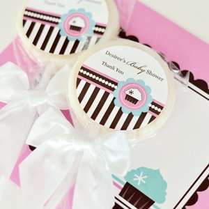 Personalized Lollipop Favors   Cupcake Party 24 Set