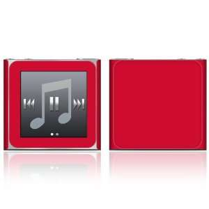 iPod Nano (6th Gen) Skin Decal Sticker   Simply Red