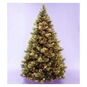 Pre Lit Carolina Pine Artificial Christmas Tree with Pinecones
