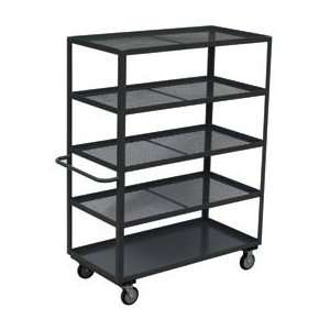 Expanded Metal Steel Shelf Truck 60 X 30 1200 Lb Capacity