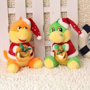 dragon in christmas cloth toy christmas gift plush toy 10 pcs/lot