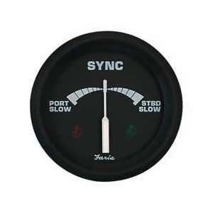 Faria 32807 Euro Black Engine Sync Gauge Automotive