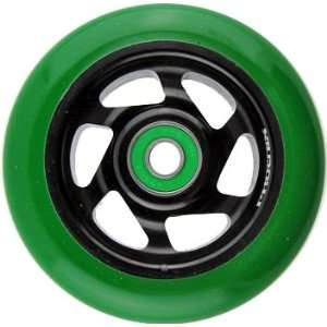 Phoenix 6 Spoke Wheel Black Green 100mm