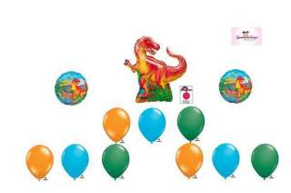 JUMBO T REX Dinosaur Happy Birthday Party Balloon Set