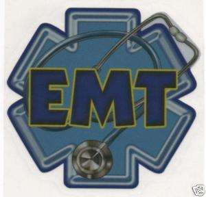 EMT EMS PARAMEDIC STAR OF LIFE FULL COLOR WINDOW DECAL