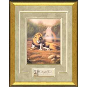 Christian Framed Art by William Hallmark   Promise of Peace 13 x 16