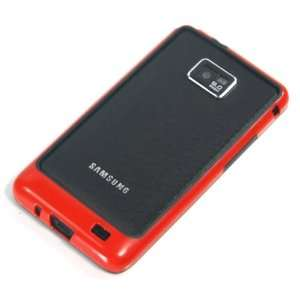 Black+Red / Plastic Bumper Case for Samsung Galaxy SII / S2 / i9100