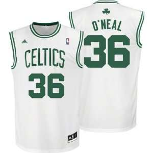 neal White & Green Throwback Basketball Jersey