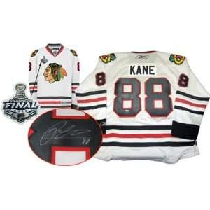 Patrick Kane Autographed/Hand Signed Jersey Blackhawks White Replica