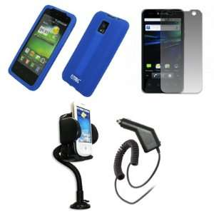 EMPIRE Blue Silicone Skin Case Cover + 360 Degree