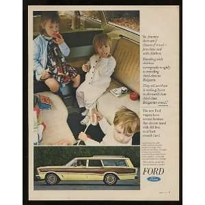 1966 Ford Country Squire Station Wagon Print Ad (10333