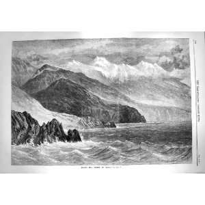 1869 View Mount Ida Island Crete Mountains Fine Art