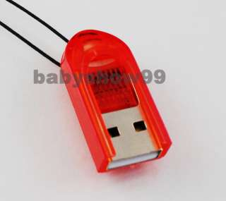 Mini USB 2.0 MicroSD SDHC T Flash TF Memory Card Reader