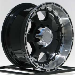20 Inch Black Wheels Rims Chevy Silverado 2500 3500 Dodge RAM Ford
