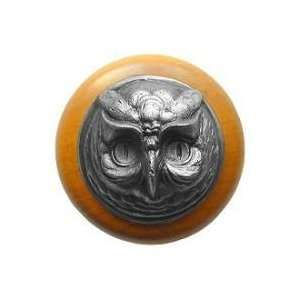 Hill Wise Owl maple Cabinet Knob Antique Brass