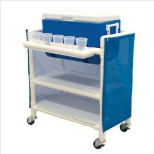 Hydration Cart with 48 Quart Ice Chest Color Mauve, Cover Type Vinyl