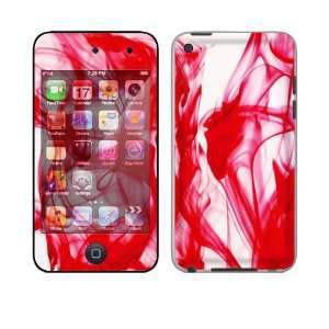 Apple iPod Touch 4th Gen Skin Decal Sticker   Rose Red