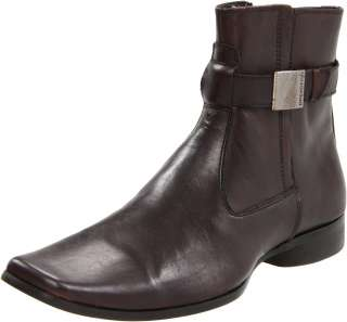 Mens Kenneth Cole Reaction Takin Note Brown Leather Boots Brand New