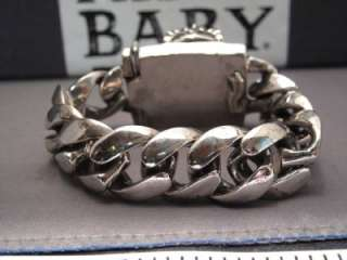 King Baby Old School Extra Large Link Bracelet with Large Crowned