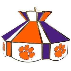 Clemson Tigers Stained Glass Billiard/Pool Table Swag Light/Lamp