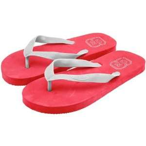 NCAA North Carolina State Wolfpack Red Shower Flip Flops