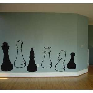 Chess Game Pieces Wall Art Vinyl Decal