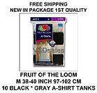 10 FRUIT OF THE LOOM A SHIRT TANK M 38 40 IN 97 102 CM