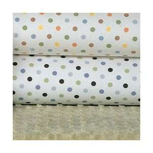 Carters Easy Fit Crib Sheet in Blue/Green Dot Print Baby