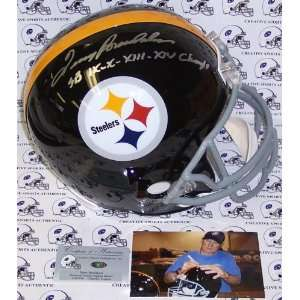 Terry Bradshaw Hand Signed Pittsburgh Steelers Throwback