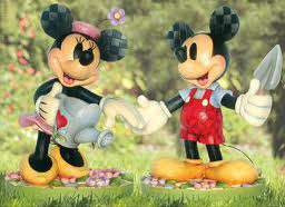 JIM SHORE DISNEY MICKEY MINNIE MOUSE RESIN GARDENING STATUES