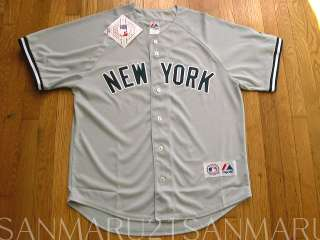 MLB New York Yankees Majestic Mens jersey 2XL Gray NEW