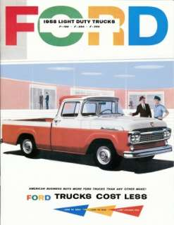 FORD 1958 Pickup Truck Sales Brochure 58