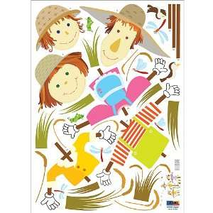 Reusable Easy Wall Applique Stickers   Scarecrow Meeting