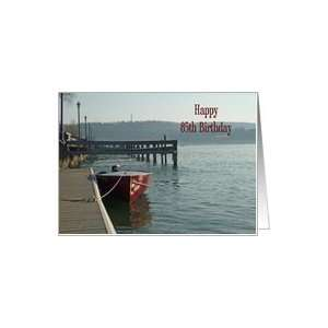 Fishing Boat 85th Birthday Card Card Toys & Games
