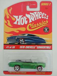 HOT WHEELS CLASSICS SERIES 2 #1/30 1970 CHEVELLE CONVERTIBLE