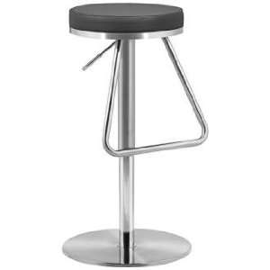 Zuo Soda Black Adjustable Height Bar or Counter Stool