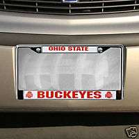 STATE BUCKEYES CAR AUTO CHROME METAL LICENSE PLATE TAG FRAME